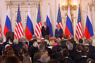 Obama a Medveděv v ČR