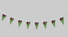 Vlajkový provazec květiny
