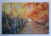Umělecké plátno - les