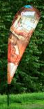 muší křídla - kapkovitá