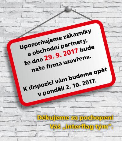 Uzavření firmy dne dne 29.9.2017